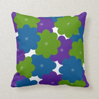 Almofada Travesseiro decorativo floral do roxo, o verde & o