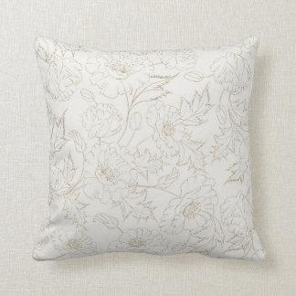 Almofada Travesseiro decorativo floral do teste padrão