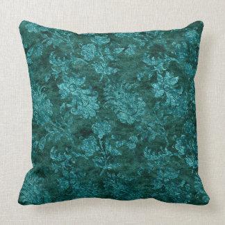 Almofada Travesseiro decorativo floral esmagado da cerceta