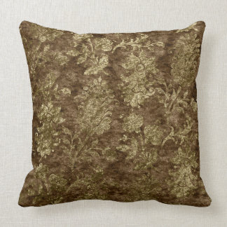 Almofada Travesseiro decorativo floral esmagado do ouro da