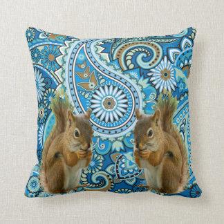 Almofada Travesseiro decorativo floral Funky do esquilo