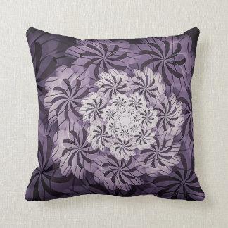 Almofada Travesseiro decorativo floral malva & branco da