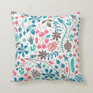 Almofada Travesseiro decorativo floral retro do teste