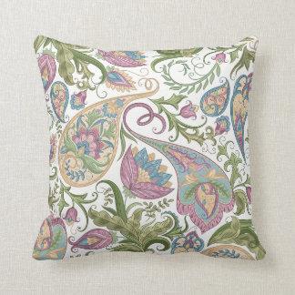 Almofada Travesseiro decorativo floral verde & roxo de