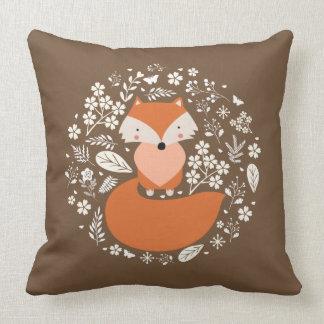 Almofada Travesseiro decorativo Foxy do algodão,