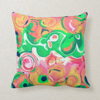 Almofada Travesseiro decorativo frutado dos redemoinhos