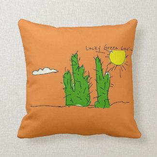 Almofada Travesseiro decorativo Funky do Doodle verde