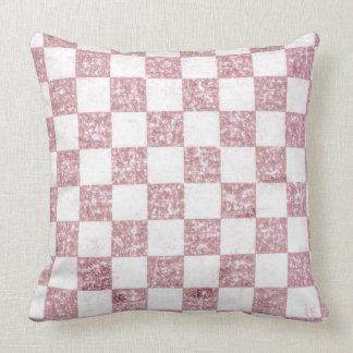 Almofada Travesseiro decorativo gasto cor-de-rosa do tartan