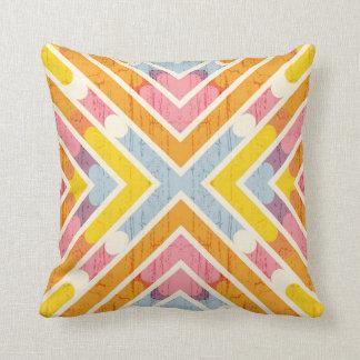 Almofada Travesseiro decorativo geométrico azul cor-de-rosa