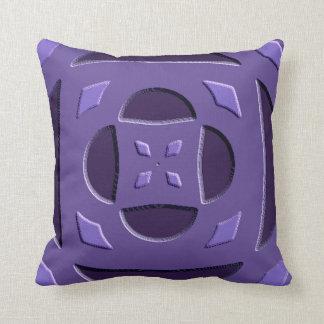 Almofada Travesseiro decorativo gravado roxo