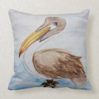 Almofada Travesseiro decorativo home litoral do pelicano de