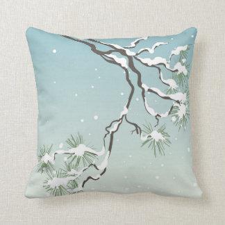Almofada Travesseiro decorativo japonês nevado do pinho