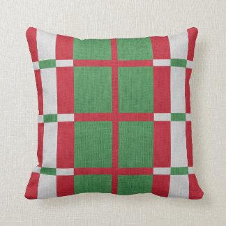 Almofada Travesseiro decorativo listrado do Natal