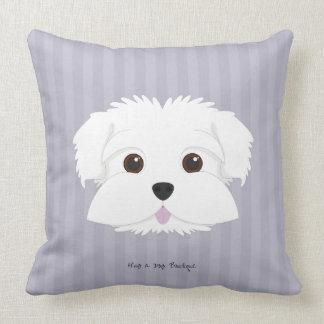 Almofada Travesseiro decorativo listrado Luxe do filhote de