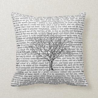 Almofada Travesseiro decorativo literário do texto das