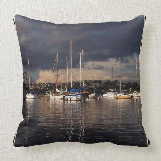 Almofada Travesseiro decorativo marinho do mar dos barcos