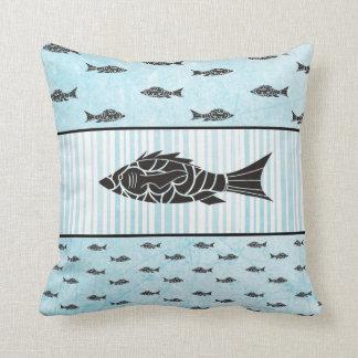 Almofada Travesseiro decorativo moderno preto e azul dos