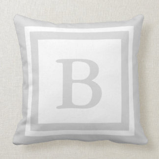 Almofada Travesseiro decorativo Monogrammed - cinza &