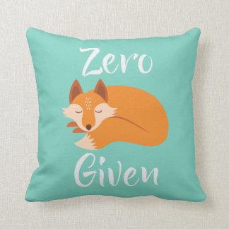 Almofada Travesseiro decorativo o mais fresco dado Fox zero