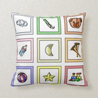 Almofada Travesseiro decorativo para a sala do bebê