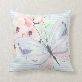Almofada Travesseiro decorativo Pastel chique da borboleta