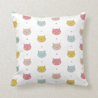 Almofada Travesseiro decorativo Pastel dos gatos