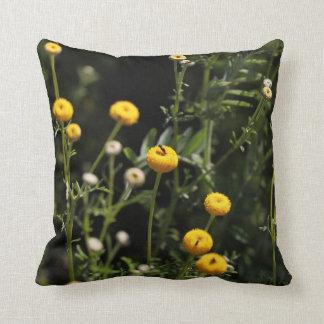 Almofada Travesseiro decorativo pequeno das flores amarelas