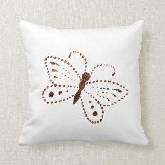 Almofada Travesseiro decorativo pontilhado da borboleta