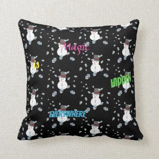 Almofada travesseiro decorativo preto-branco bonito do