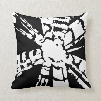 Almofada Travesseiro decorativo preto de Shibori