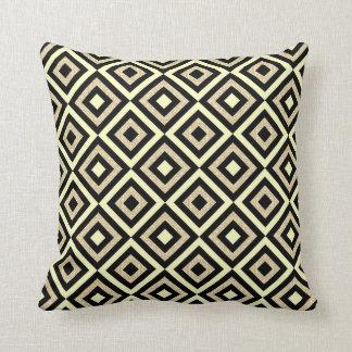 Almofada Travesseiro decorativo preto do teste padrão do
