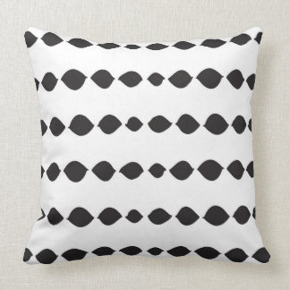 Almofada Travesseiro decorativo preto e branco