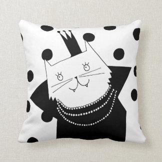 Almofada Travesseiro decorativo preto e branco da