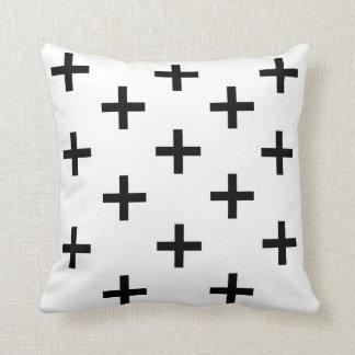 Almofada Travesseiro decorativo preto e branco do teste