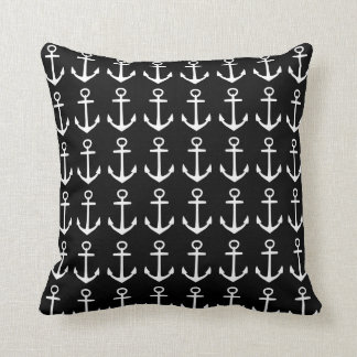 Almofada Travesseiro decorativo preto náutico