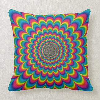 Almofada Travesseiro decorativo psicadélico da ilusão