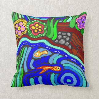 Almofada Travesseiro decorativo psicadélico do jardim