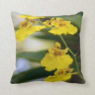 Almofada Travesseiro decorativo quadrado das orquídeas