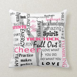 Almofada Travesseiro decorativo quadrado do cheerleader