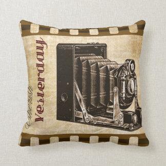 Almofada Travesseiro decorativo retro da câmera