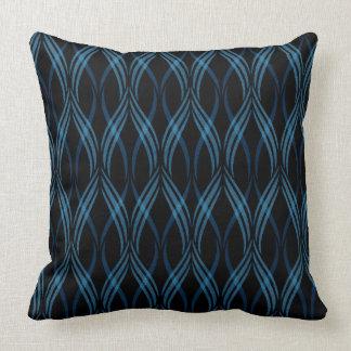 Almofada Travesseiro decorativo reversível das fitas azuis