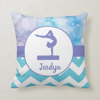 Almofada Travesseiro decorativo roxo da ginástica do Aqua