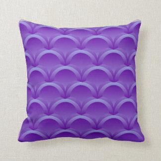 Almofada Travesseiro decorativo roxo do design do arco