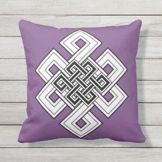 Almofada Travesseiro decorativo roxo do nó