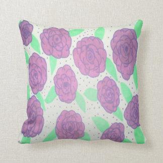 Almofada Travesseiro decorativo roxo dos rosas
