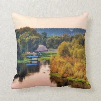 Almofada Travesseiro decorativo rural da paisagem do outono