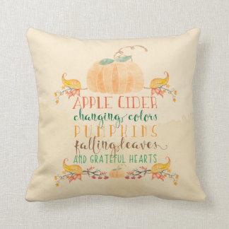 Almofada Travesseiro decorativo sazonal da aguarela da