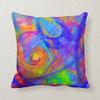 Almofada Travesseiro decorativo selvagem do abstrato da cor