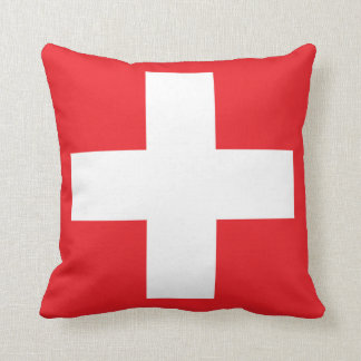 Almofada Travesseiro decorativo suíço quadrado da bandeira