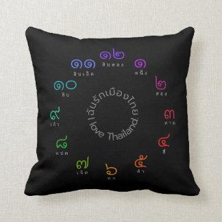"""Almofada Travesseiro decorativo tailandês dos números """"eu"""